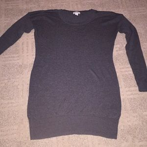 Old Navy charcoal gray tunic sweater small
